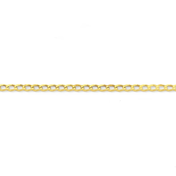 9ct 25cm Solid Curb Anklet