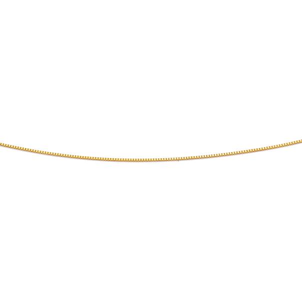 9ct 50cm Solid Box Chain
