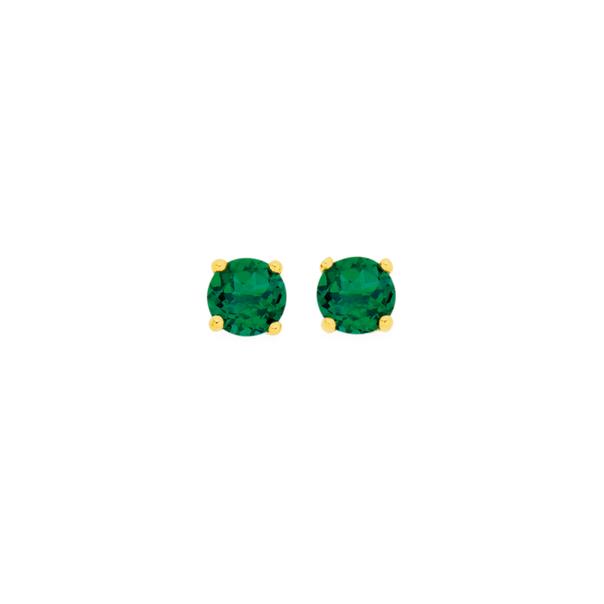 9ct Created Emerald Stud Earrings