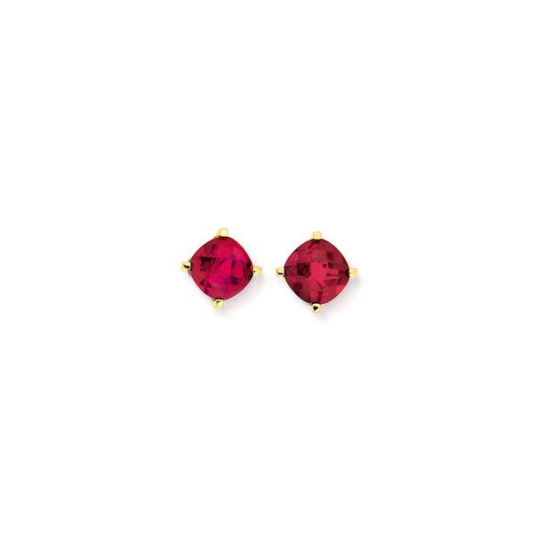 9ct Created Ruby Stud Earrings