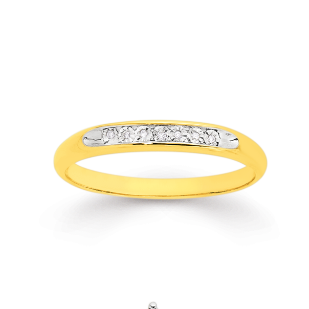 9ct Diamond Set Ring