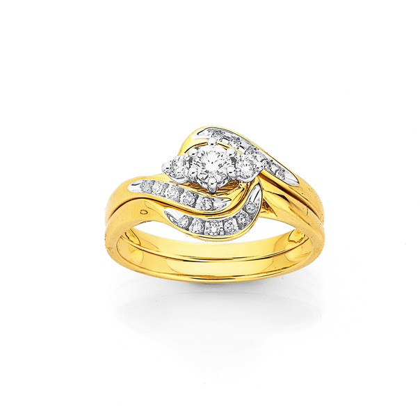 9ct, Diamond Trilogy Bridal Set