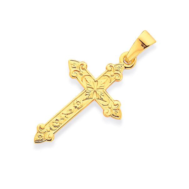 9ct Gold 20mm Celtic Cross Pendant