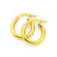 9ct Gold 2.5x10mm Polished Hoop Earrings