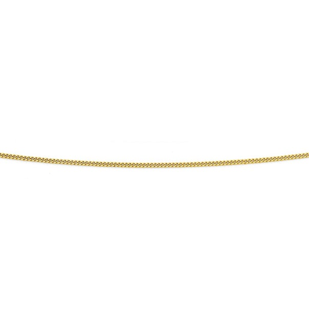 9ct Gold 35cm Solid Curb Chain