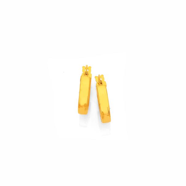 9ct Gold 3x10mm Hoop Earrings