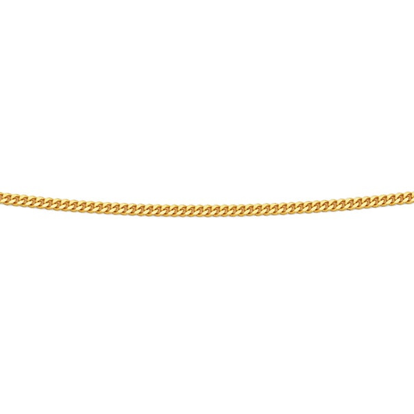 9ct Gold 40cm Solid Curb Chain