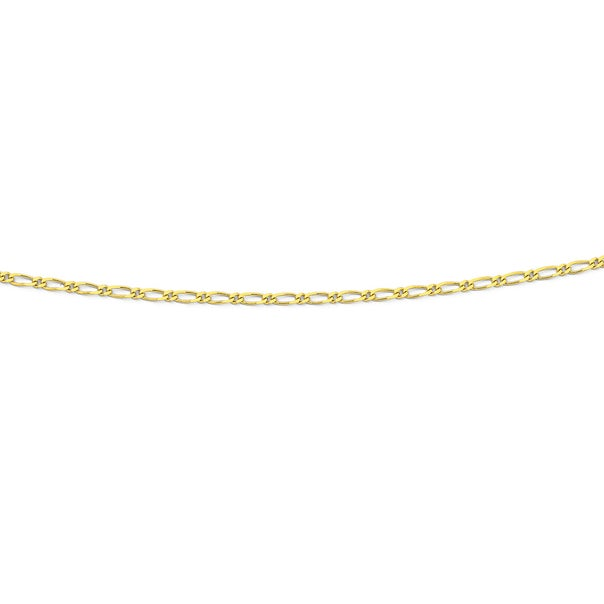 9ct Gold 40cm Solid Figaro Chain
