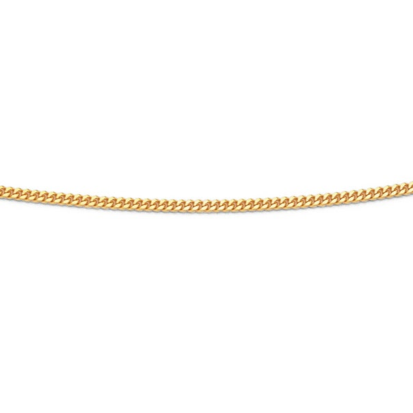 9ct Gold 42cm Solid Curb Chain