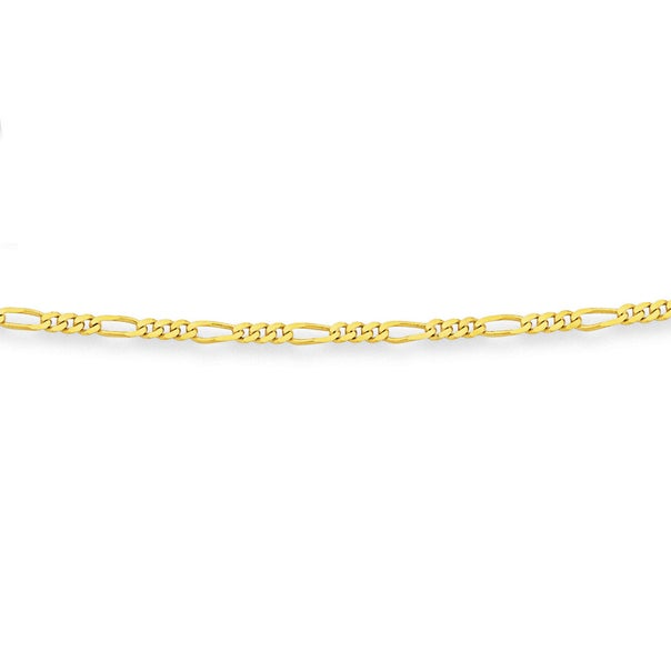 9ct Gold 42cm Solid Figaro Chain