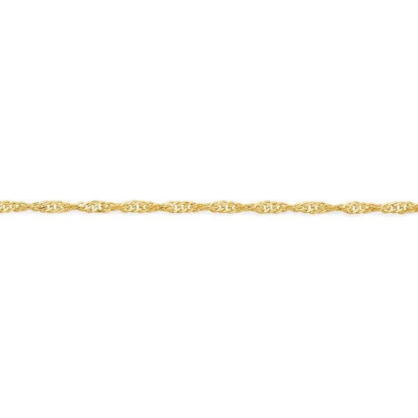 9ct Gold 42cm Solid Singapore Chain