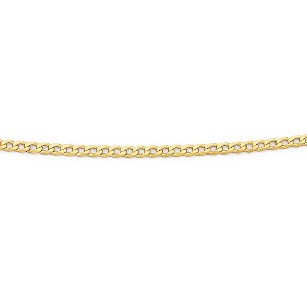 9ct Gold 43cm Solid Curb Chain