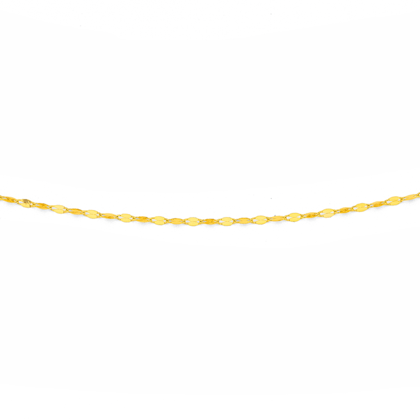 9ct Gold 45cm Mirror Link Chain