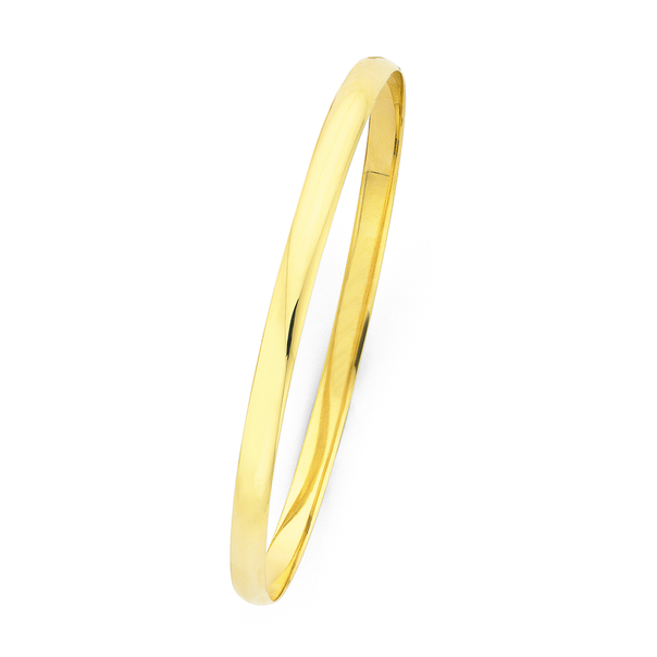 9ct Gold 4.7x65mm Solid Bangle