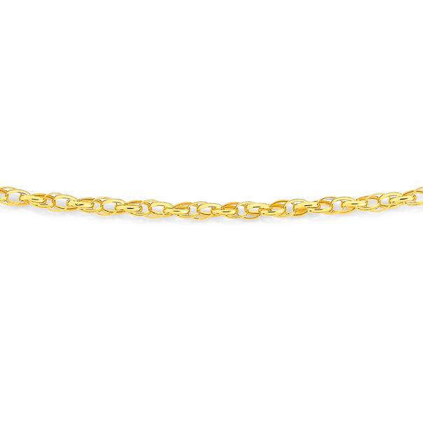 9ct Gold 50cm Hollow Double Belcher Chain