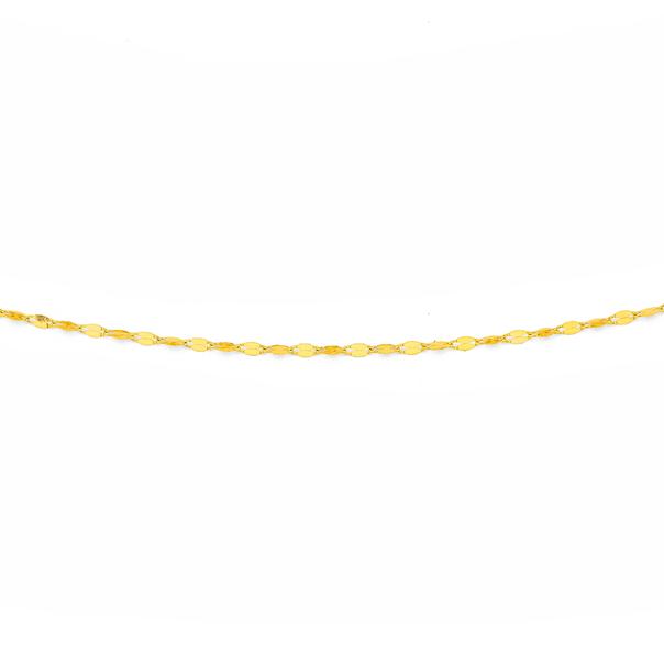 9ct Gold 50cm Mirror Link Chain