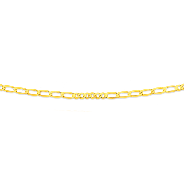 9ct Gold 50cm Solid Figaro Chain