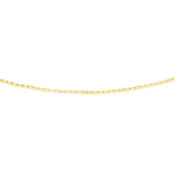 9ct Gold 50cm Solid Paperclip Chain