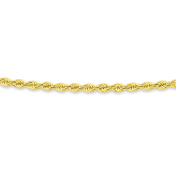 9ct Gold, 55cm Rope Chain