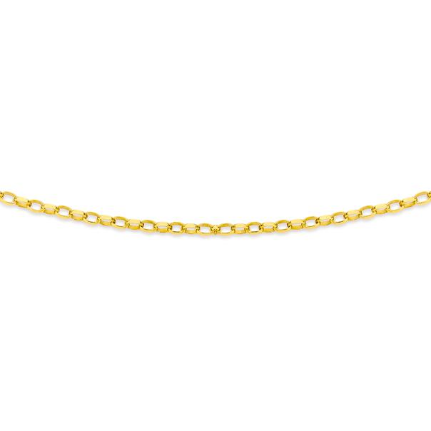 9ct Gold 55cm Solid Belcher Chain