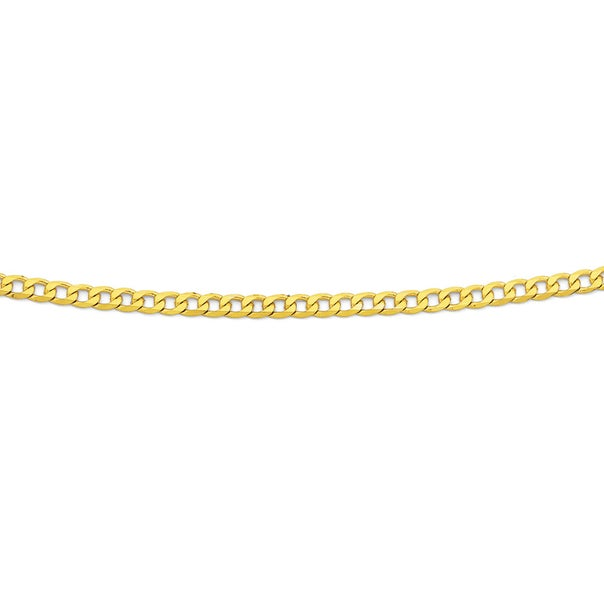 9ct Gold, 60cm Solid Curb Chain