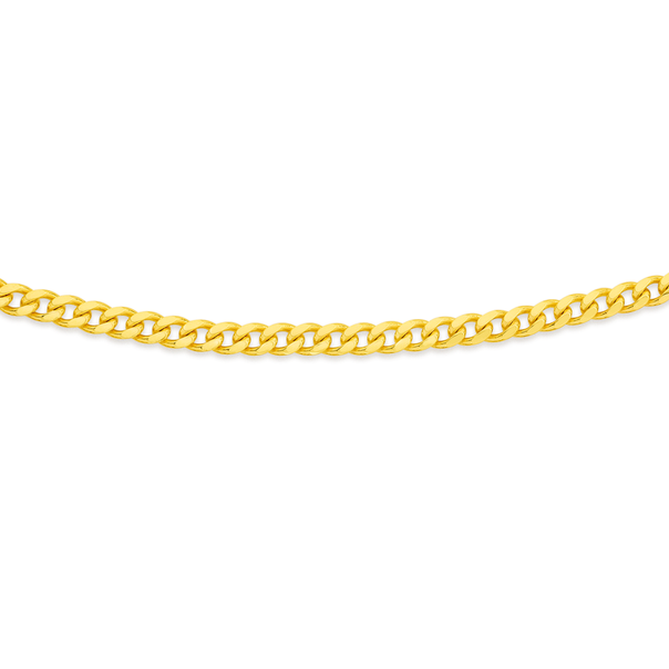 9ct Gold 60cm Solid Curb Chain