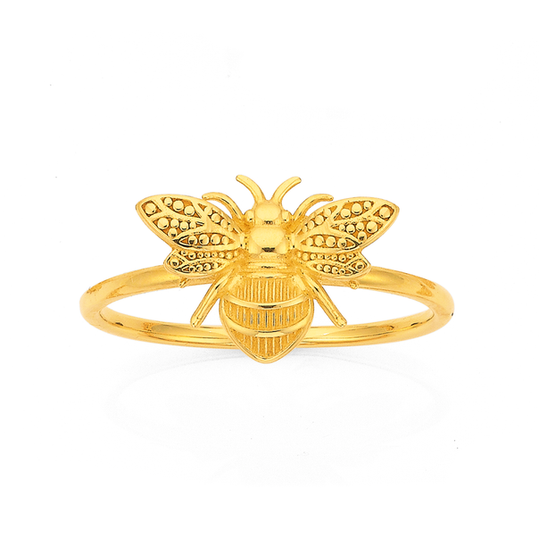 9ct Gold Bumble Bee Dress Ring