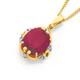 9ct Gold, Created Ruby & Diamond Pendant