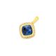 9ct Gold, Created Sapphire & Diamond Cushion Cut Enhancer Pendant