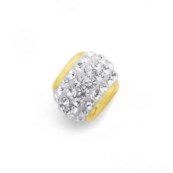 9ct Gold, Crystal Ring Charm