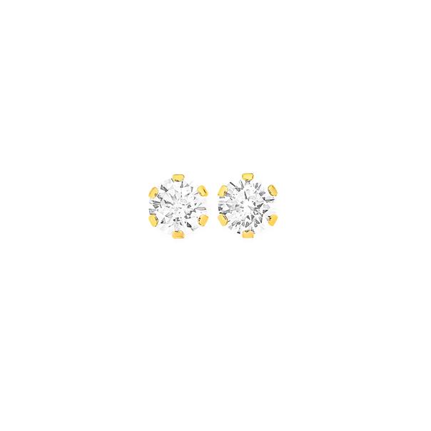 9ct Gold, Cubic Zirconia Stud Earrings