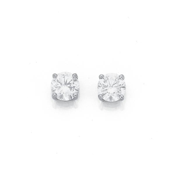9ct Gold Cubic Zirconia Stud Earrings