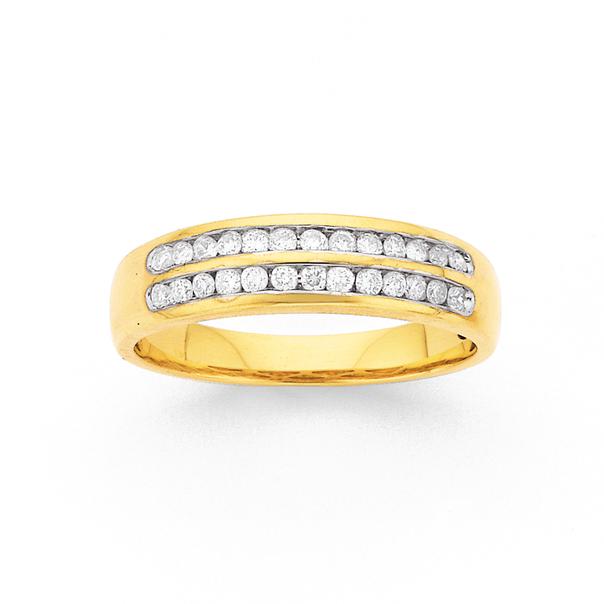 9ct, Gold Diamond Anniversary Ring TDW=.25ct