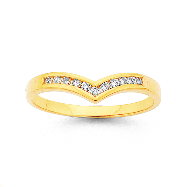 9ct Gold, Diamond Band