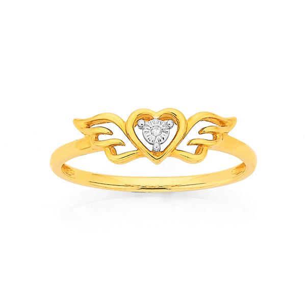 9ct Gold, Diamond Dress Ring