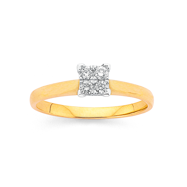 9ct Gold, Diamond Engagement Ring