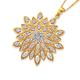 9ct Gold Diamond Fancy Flower Pendant