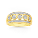 9ct Gold, Diamond Swirl Ring