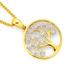 9ct Gold Diamond Tree of Life Circle Pendant