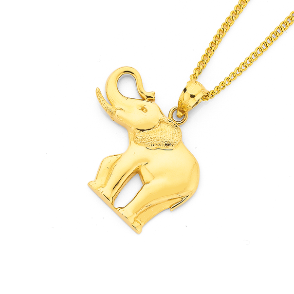 9ct Gold Elephant Pendant