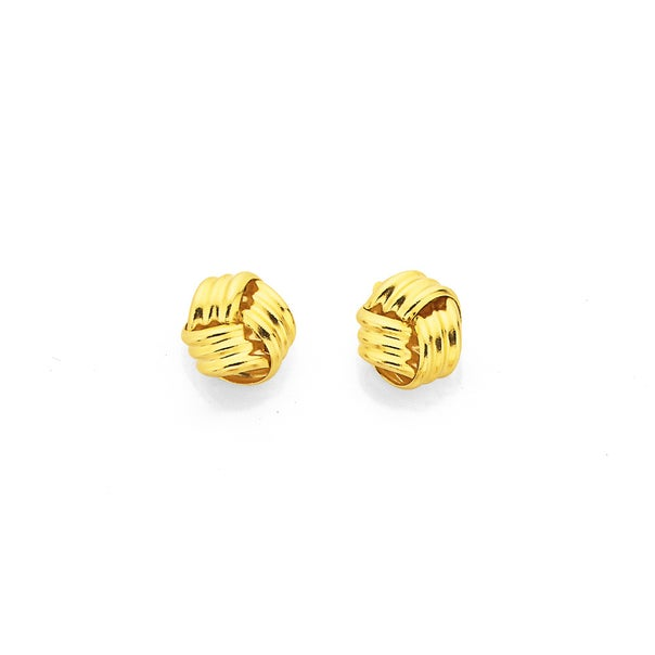 9ct Gold, Knot Stud Earrings