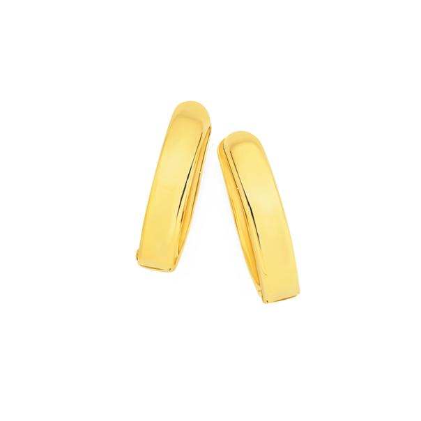 9ct Gold Polished Huggie Earrings