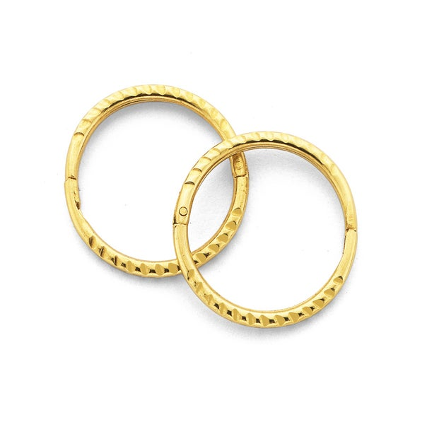 9ct Gold Small Twist Sleepers