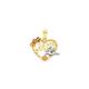 9ct Gold Tri Tone Heart Pendant