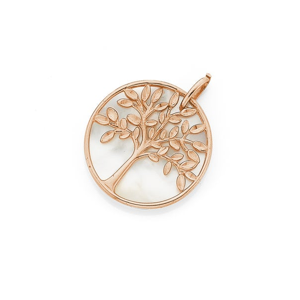 9ct Rose Gold Mother Of Pearl Pendant