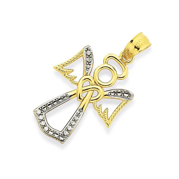 9ct Two Tone Gold Pendant