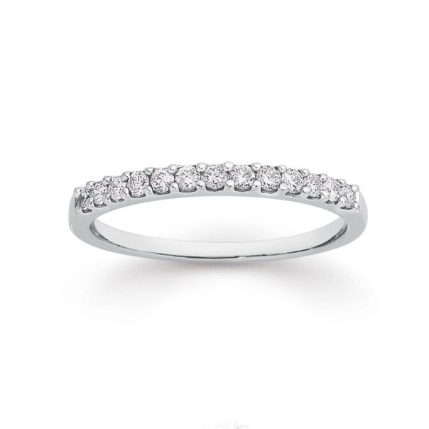9ct White Gold Diamond Anniversary Ring