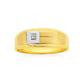 9ct Yellow & White Gold Diamond Set Gents Ring