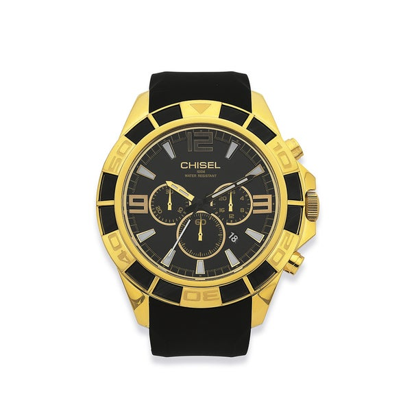 Chisel Mens Gold Tone 100M Water Resistant