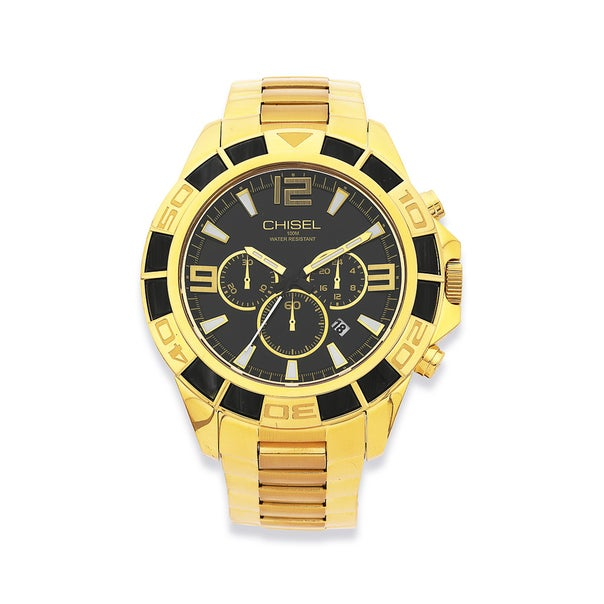 Chisel Mens Gold Tone Watch